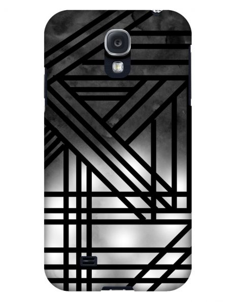 Samsung Galaxy S4 3D-Case (glossy) Gibilicious Design Grey smoke with black lines von swook! - switch your look