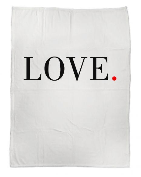 Love schlicht - Kuscheldecke mit Namen