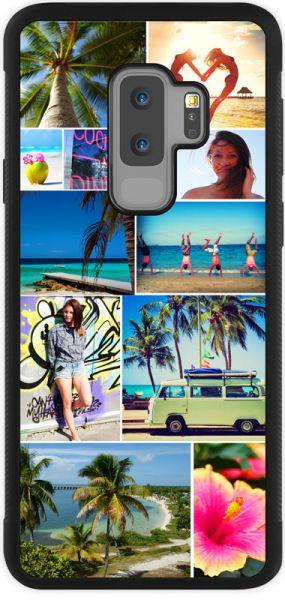 Bumper-Case (schwarz) passend für Samsung Galaxy S9 Plus, Selbst gestalten