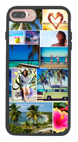 iPhone 7 Plus 2D-Handyhülle (schwarz) selbst gestlaten bei swook!