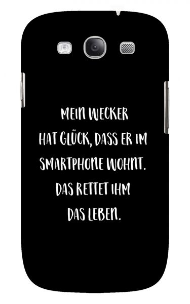 Samsung Galaxy S3 (i9300) 3D-Case (glossy) Gibilicious Design Mein Wecker hat Glueck von swook! - switch your look