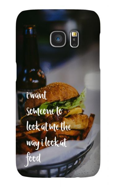 Samsung Galaxy S7 3D-Case (glossy) Gibilicious Design The way I look at food von swook! - switch your look