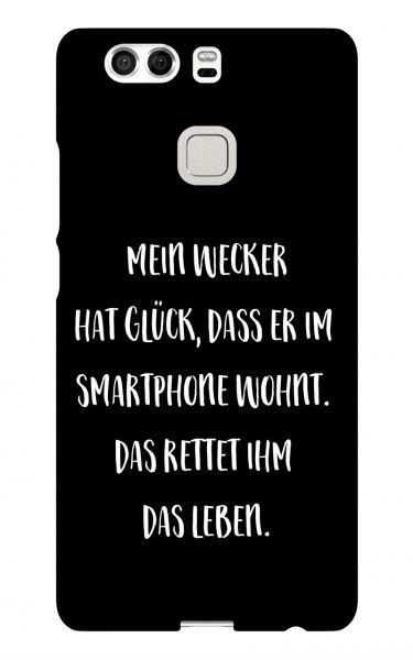 Huawei P9 3D-Case (glossy) Gibilicious Design Mein Wecker hat Glueck von swook! - switch your look