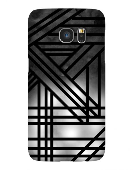 Samsung Galaxy S7 3D-Case (glossy) Gibilicious Design Grey smoke with black lines von swook! - switch your look