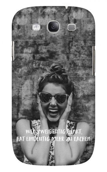 Samsung Galaxy S3 (i9300) 3D-Case (glossy) Gibilicious Design Wer zweideutig denkt von swook! - switch your look