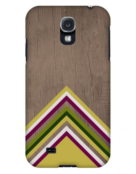 Samsung Galaxy S4 3D-Case (glossy) Gibilicious Design Yellow pattern wood von swook! - switch your look