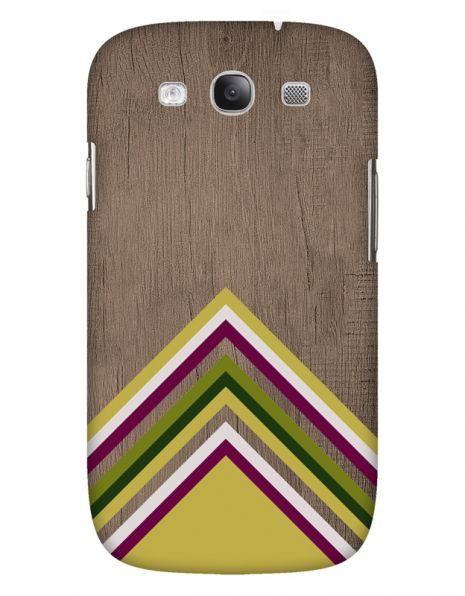 Samsung Galaxy S3 (i9300) 3D-Case (glossy) Gibilicious Design Yellow pattern wood von swook! - switch your look