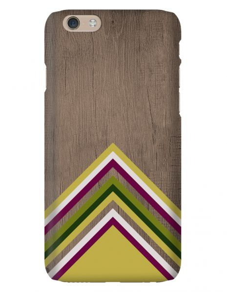 Apple iPhone 6 3D-Case (glossy) Gibilicious Design Yellow pattern wood von swook! - switch your look