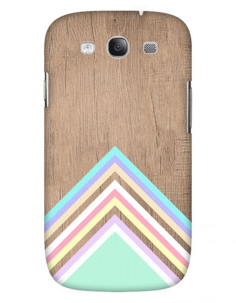 Samsung Galaxy S3 (i9300) 3D-Case (glossy) Gibilicious Design Baby blue pattern on wood von swook! - switch your look