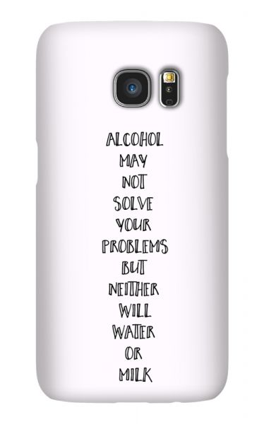Samsung Galaxy S7 3D-Case (glossy) Gibilicious Design Alcohol may not solve problems von swook! - switch your look