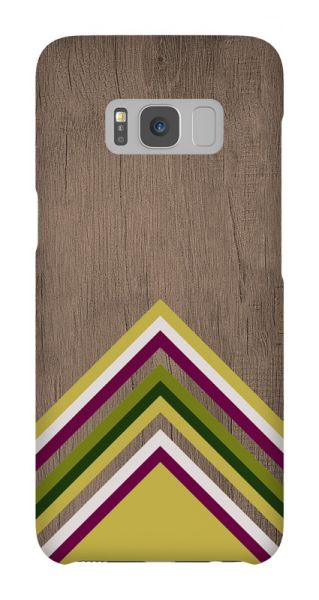 Samsung Galaxy S8  3D-Case (glossy) Gibilicious Design Yellow pattern wood von swook! - switch your look