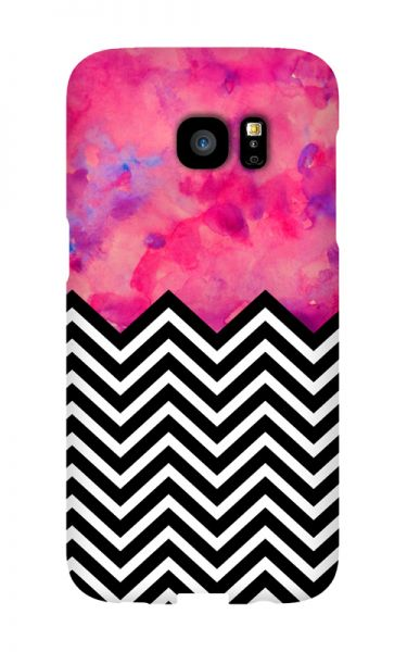 Samsung Galaxy S7 Edge 3D-Case (glossy) black and white and PINK von swook! - switch your look