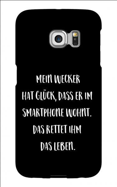Samsung Galaxy S6 Edge 3D-Case (glossy) Gibilicious Design Mein Wecker hat Glueck von swook! - switch your look