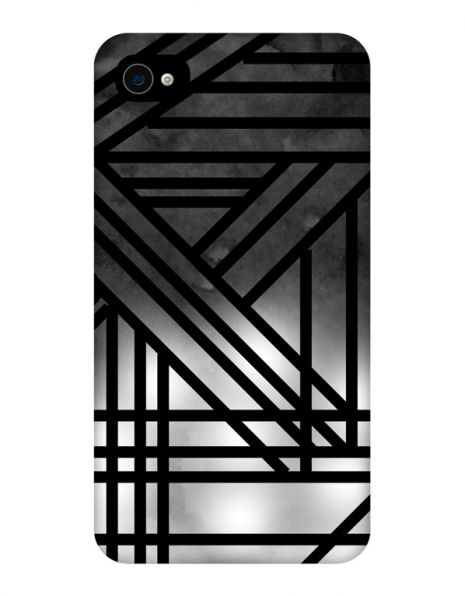 Apple iPhone 4/4s 3D-Case (glossy) Gibilicious Design Grey smoke with black lines von swook! - switch your look
