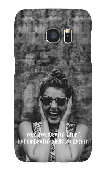 Samsung Galaxy S7 3D-Case (glossy) Gibilicious Design Wer zweideutig denkt von swook! - switch your look
