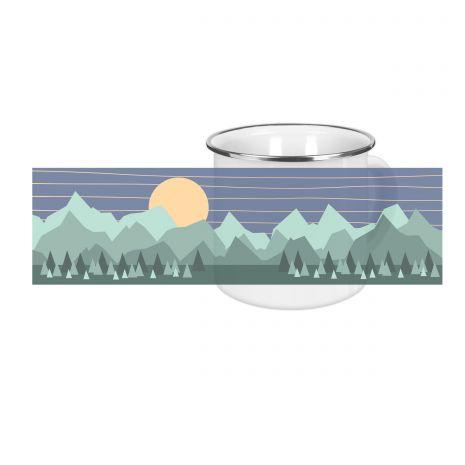 Wildlife grün - Emaille-Tasse (300 ml)