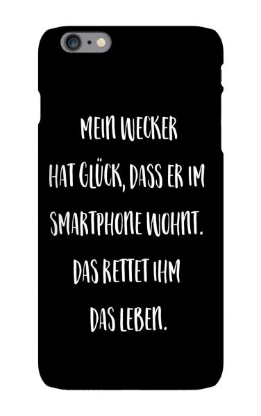 Apple iPhone 6s Plus 3D-Case (glossy) Gibilicious Design Mein Wecker hat Glueck von swook! - switch your look