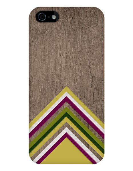 Apple iPhone 5/5S/SE 3D-Case (glossy) Gibilicious Design Yellow pattern wood von swook! - switch your look