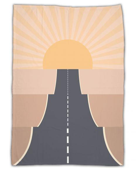 On the road desert - Kuscheldecke mit Namen