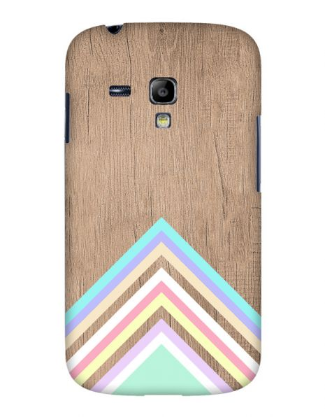 Samsung S3 Mini (i8190) 3D-Case (glossy) Gibilicious Design Baby blue pattern on wood von swook! - switch your look