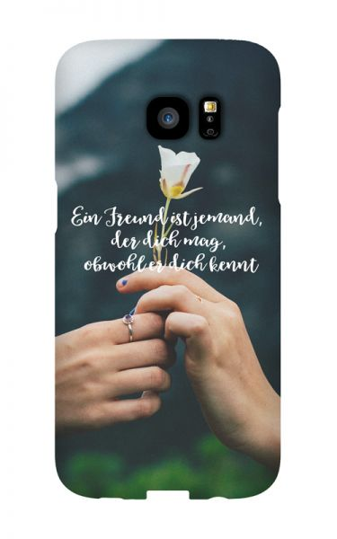 Samsung Galaxy S7 Edge 3D-Case (glossy) Gibilicious Design Ein Freund ist jemand von swook! - switch your look