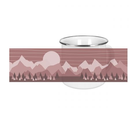 Wildlife rot - Emaille-Tasse (300 ml)