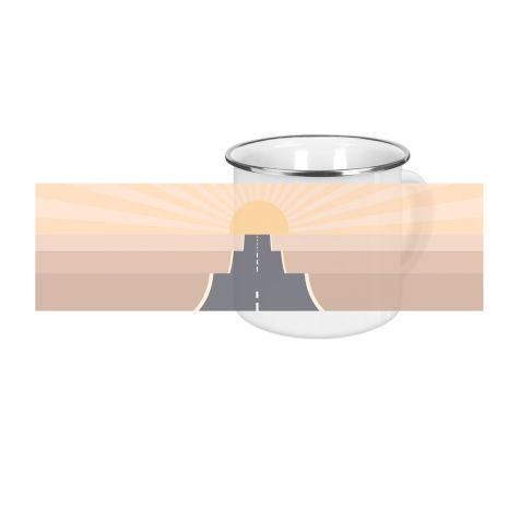 On the road desert - Emaille-Tasse (300 ml)