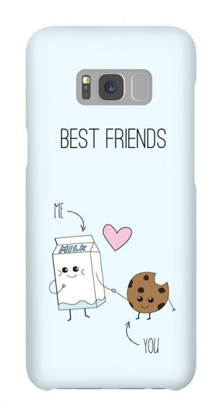 Samsung Galaxy S8 Plus 3D-Case (glossy) Gibilicious Design BFF - Best friends - Cookies & Milk von swook! - switch your look