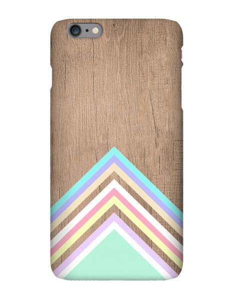 Apple iPhone 6 Plus 3D-Case (glossy) Gibilicious Design Baby blue pattern on wood von swook! - switch your look