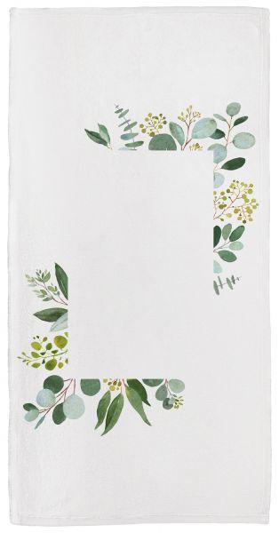 Eukalyptus Love - Handtuch mit Namen
