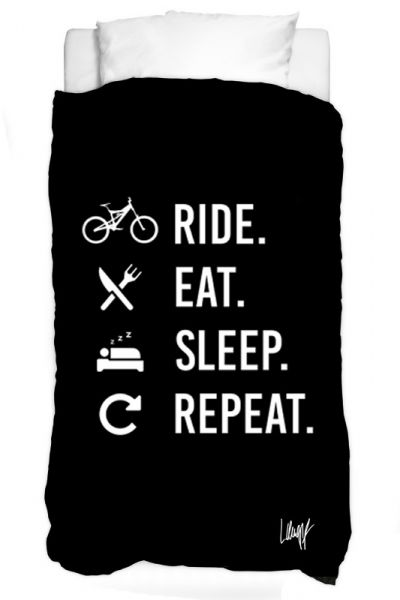 Bettbezug - Ride Eat Sleep Repeat (black)