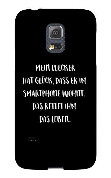 Samsung Galaxy S5 Mini 3D-Case (glossy) Gibilicious Design Mein Wecker hat Glueck von swook! - switch your look