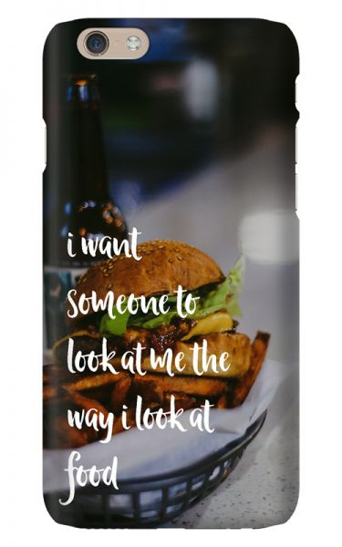 Apple iPhone 6 3D-Case (glossy) Gibilicious Design The way I look at food von swook! - switch your look