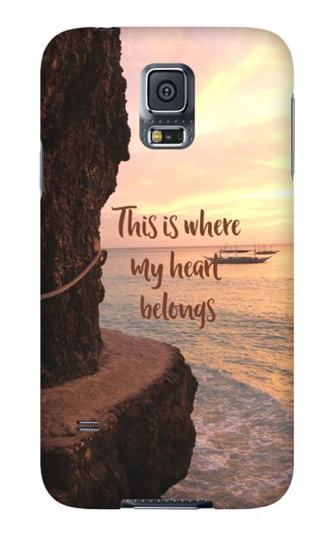 Samsung Galaxy S5 3D-Case (glossy) Gibilicious Design Where my heart belongs von swook! - switch your look