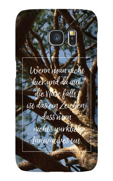 Samsung Galaxy S7 3D-Case (glossy) Gibilicious Design Auf Nase fallen von swook! - switch your look
