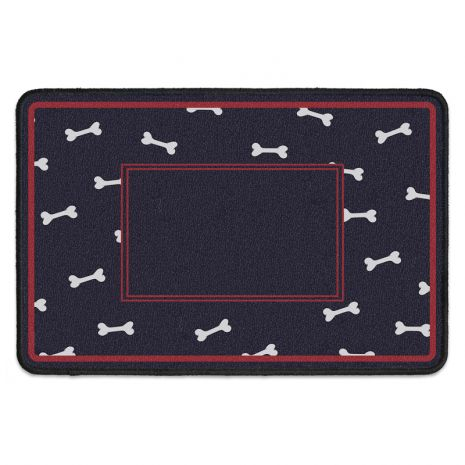 Fußmatte für Hundeliebhaber - mit personalisierbarem Spruch - Vorsicht beim Herrchen