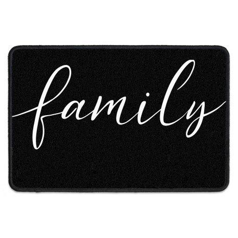 Fußabstreifer mit Familiennamen und Namen - Family Typo