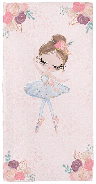 Ballerina 1 - Babyhandtuch mit Namen