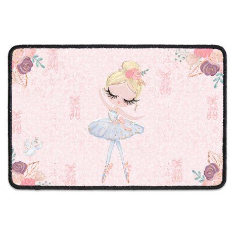 Schmutzfangmatte für Kinder mit Namen – Ballerina 3