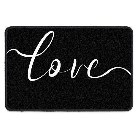 Fußmatte für Paare - mit Namen und Datum - Love Typo