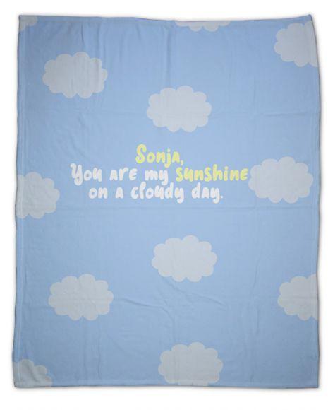 My sunshine on a cloudy day Nap king - Kuscheldecke mit Namen