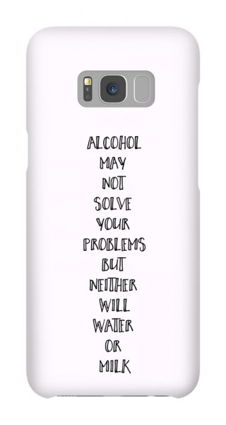 Samsung Galaxy S8 Plus 3D-Case (glossy) Gibilicious Design Alcohol may not solve problems von swook! - switch your look
