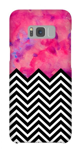 Samsung Galaxy S8 Plus 3D-Case (glossy) Gibilicious Design black and white and PINK von swook! - switch your look