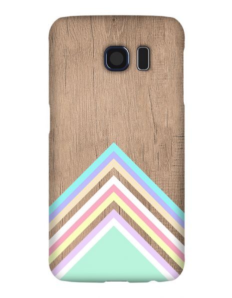 Samsung Galaxy S6 3D-Case (glossy) Gibilicious Design Baby blue pattern on wood von swook! - switch your look