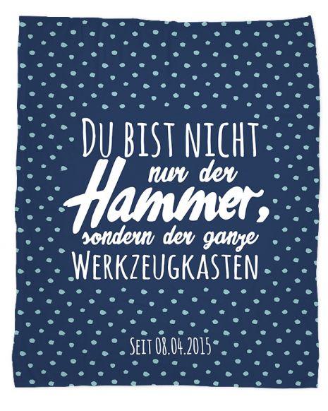 Der Hammer- Kuscheldecke mit Namen