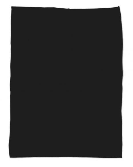 Kuscheldecke mit deinem Text - schwarz