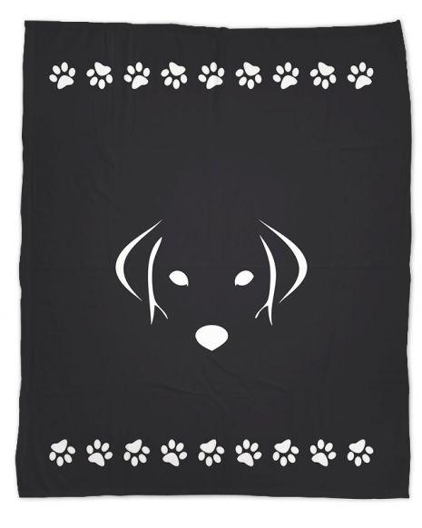 Hundegesicht - Hundedecke mit Namen