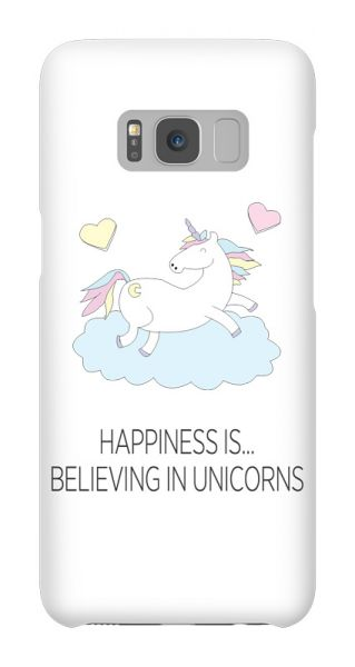 Samsung Galaxy S8  3D-Case (glossy) Gibilicious Design Happiness is…believing in unicorn von swook! - switch your look