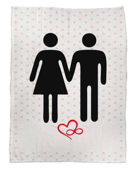 Mann & Frau - Kuscheldecke mit Namen