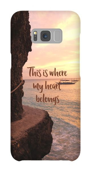 Samsung Galaxy S8 Plus 3D-Case (glossy) Gibilicious Design Where my heart belongs von swook! - switch your look
